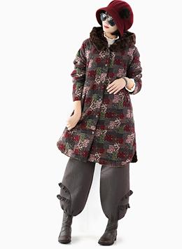 조각 컬러 코트